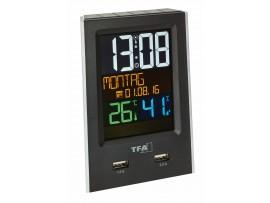 Настолен часовник - будилник със зарядно за телефон CHARGE-IT - 60.2537.01