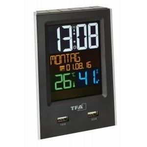 Настолен часовник - будилник със зарядно за телефон CHARGE-IT - 60.2537.01 на най-добра цена