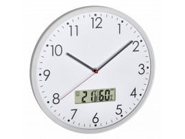 Всички продукти - Аналогов стенен часовник с цифров термометър и хигрометър - 60.3048.02 на най-добра цена