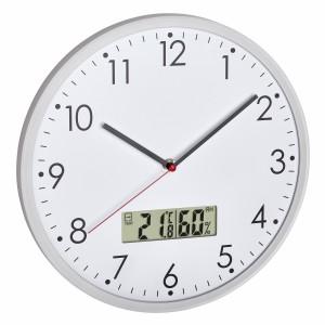 Аналогов стенен часовник с цифров термометър и хигрометър - 60.3048.02 на най-добра цена