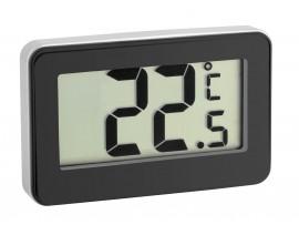 Дигитален термометър за вътрешна температура и хладилник, черен - 30.2028.01