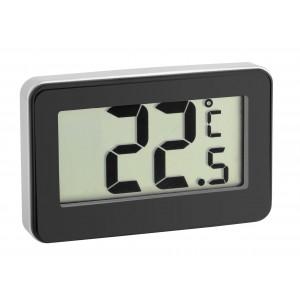 Дигитален термометър за вътрешна температура и хладилник, черен - 30.2028.01 на най-добра цена