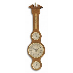 """Метеорологична станция с кварцов часовник - масив дъб """"Шератон"""" - 45.3004.01 на най-добра цена"""