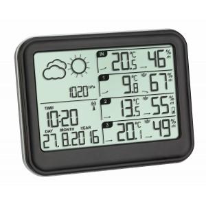 """Метеорологична станция с три външни датчика """"VIEW"""" - 35.1142.01 на най-добра цена"""