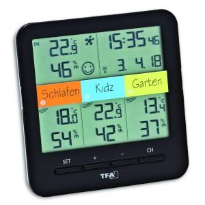 """WEATHER HUB-Метеорологична станция с три датчика """"Klima-Home"""" - 30.3060.01.IT на най-добра цена"""