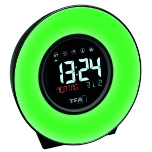 Настолен часовник със зарядно за телефон, светлина и природни звуци - 60.2023.02 на най-добра цена