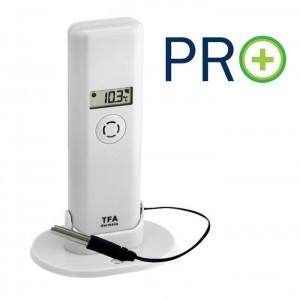 WEATHER HUB-Предавател за температура и влажност с дисплей, кабелен сензор и PRO функции - 30.3302.02 на най-добра цена