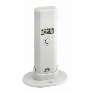WEATHER HUB-Предавател за температура и влажност с дисплей - 30.3303.02 на най-добра цена