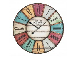 Часовници - Старинен стенен часовник с метален обков 'Vintage' - 60.3021 на най-добра цена