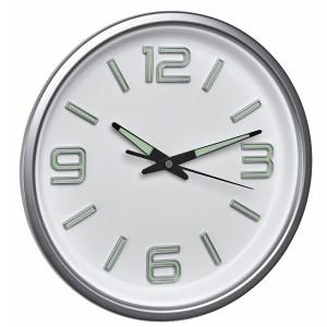 Стенен часовник - безшумен, фосфоресциращи стрелки - 60.3040 на най-добра цена