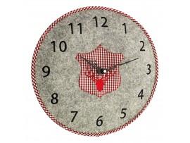 Часовници - Стенен часовник от филц, елен - 60.3025.10 на най-добра цена