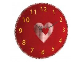 Часовници - Стенен часовник от филц, сърце - 60.3025.05 на най-добра цена
