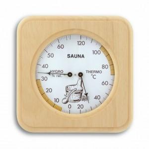 Термометър-хидрометър за сауна, дървен - 40.1007 на най-добра цена