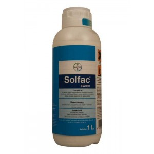 Солфак EW50 (BAYER) препарат против бълхи, молци, кърлежи, дървеници, бръмбари, щурци, щипалки и др.. на най-добра цена