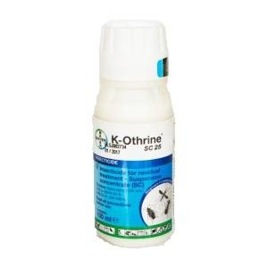 К-Отрин СК 25 (BAYER) Препарат за комари, мухи, хлебарки, бълхи, молци, щипалки, въшки - 100 мл. на най-добра цена