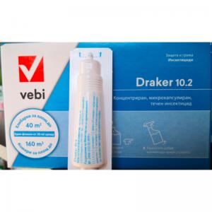 Концентриран препарат против кърлежи, бълхи, комари, хлебарки, мравки, молци, паяци, люспеници и др. DRAKER 10.2 VEBI - 20 мл на най-добра цена