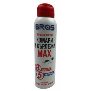BROS Спрей MAX  за защита от ухапване на кърлежи и комари по тялото за над 12 години на най-добра цена