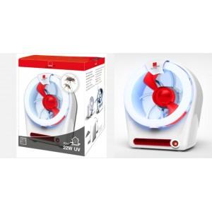 Инсектицидна лампа с всмукателен вентилатор убиваща мухи, комари и др. до 80 кв.м SWISSINNO - 22W на най-добра цена