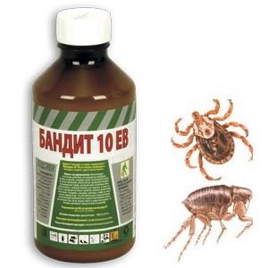 Препарат против бълхи, кърлежи, комари и мухи БАНДИТ 10 ЕВ - 1 л на най-добра цена