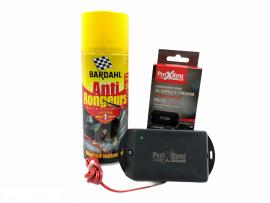 Мишки, Плъхове - КОМПЛЕКТ: Спрей Bardahl 400 мл. за защита на кабелите на автомобилите + Електронен стационарен уред прогонващ гризачи в транспортни средства и лодки на най-добра цена