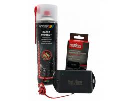КОМПЛЕКТ: Спрей за защита на кабелите на автомобилите MOTIP 500 мл. + Електронен стационарен уред прогонващ гризачи в транспортни средства и лодки