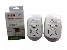 """Мравки - АКЦИЯ - 2 бр. Комбиниран ултразвук и електромагнитен уред против мишки, плъхове, мравки и хлебарки """"PLUS"""" за 2 x 230 кв. м, Gardigo на най-добра цена"""