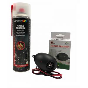 КОМПЛЕКТ: Спрей за защита на кабелите на автомобилите MOTIP 500 мл. + Електронен уред прогонващ мишки, плъхове и белки в транспортни средства и лодки Gardigo на най-добра цена