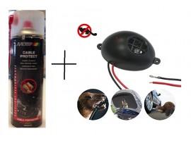 Уреди против Гризачи - КОМПЛЕКТ: Спрей за защита на кабелите на автомобилите MOTIP 500 мл. + Електронен уред прогонващ мишки, плъхове и белки в транспортни средства Gardigo на най-добра цена