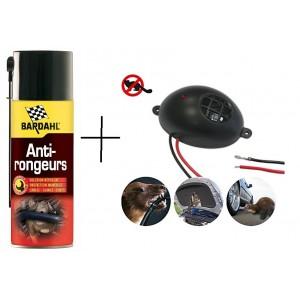 КОМПЛЕКТ: Спрей Bardahl 400 мл. за защита на кабелите на автомобилите + Електронен уред прогонващ мишки, плъхове и белки в транспортни средства и лодки, Gardigo на най-добра цена
