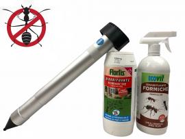 Без Мравки в градината само в 3 стъпки - Подземен уред за 1500 кв.м., Еко гранули Flortis 1000 мл, Еко спрей Ecovit 1000 мл