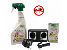 Без Мравки в кухнята само в 3 стъпки - Еко бариера концентрат за 660 кв.м., Еко спрей Flortis 500 мл, Уред Дуо за 250 кв.м.