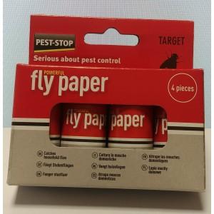 Спирала-капан с лепило за мухи и други летящи насекоми - 4 бр. на най-добра цена
