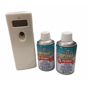 Комплект Диспенсър SOLOAIR и 2 бр. за ZZ COPERMATIC инсектициди убиващи мухи и други летящи насекоми на най-добра цена