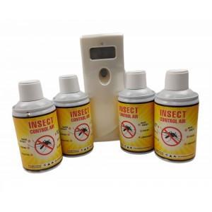 Комплект Диспенсър и 4 бр. за инсектициди убиващи мухи и други летящи насекоми SOLOAIR на най-добра цена