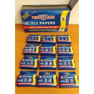 Спирала-капан с лепило за мухи и други летящи насекоми - 12 х 4 бр. PestClear на най-добра цена