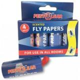 Спирала-капан с лепило за мухи и други летящи насекоми - 4 бр. PestClear