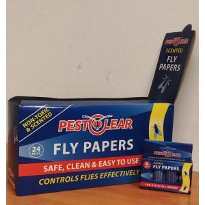 Спирала-капан с лепило за мухи и други летящи насекоми - 24 х 4 бр. PestClear на най-добра цена