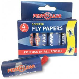 Спирала-капан с лепило за мухи и други летящи насекоми - 4 бр. PestClear на най-добра цена