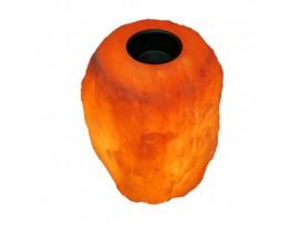 Арома-лампа от Хималайска сол - 3.5-4 кг. с дървена основа