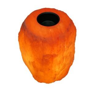Арома-лампа от Хималайска сол - 3.5-4 кг. с дървена основа на най-добра цена
