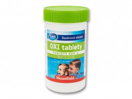Безхлорна дезинфекция на вода: Кислородни таблетки за малки басейни Azuro Oxi Tabs 5 бр. таблетки х 200 гр.
