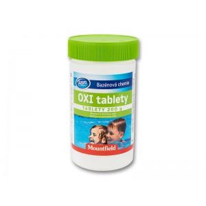 Безхлорна дезинфекция на вода: Кислородни таблетки за малки басейни Azuro Oxi Tabs 5 бр. таблетки х 200 гр.  на най-добра цена