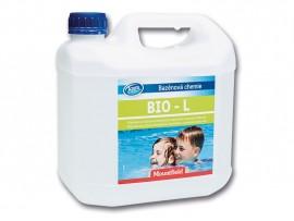 БЕЗХЛОРНА ДЕЗИНФЕКЦИЯ НА ВОДА: Azuro Bio L 3 л, против бактерии, водорасли и замърсявания