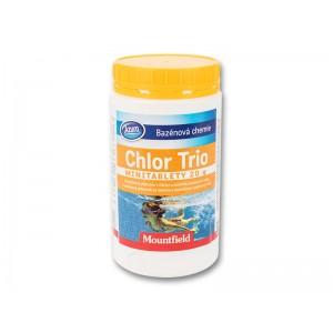 Малки хлорни таблетки (45 бр. х 20 гр.) с 3 действия (дезинфекцира, избистря и предпазва от водорасли, бактерии) Azuro Chlor Trio MINI - таблетки на най-добра цена