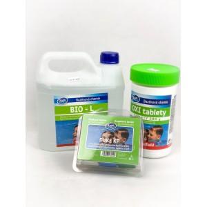 Комплект за безхлорна БИО дезинфекция на вода в плувни басейни - Азуро BioL, Azuro Oxi Tabs, тестер за pH и O2 на най-добра цена