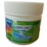 САНИФОРТ 3 в 1 КОМБИ МИНИ бавен хлор, 20 таблетки х 20 гр. за поддържаща дезинфекция на вода в плувни басейни, за контрол на алгите и физическите замърсявания