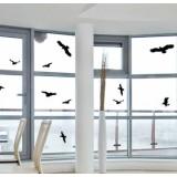 Стикери за защита на прозорци/стъкла от сблъсък на птици - 5 бр.