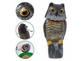Птици - Плашило 3D Бухал прогонващо Гълъби, Врабчета, Скорци, Косове, Врани, Пчелояди, Свраки, Кълвачи  на най-добра цена