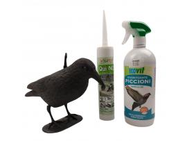 Птици - Гълъби на терасата - Еко прогонване в 3 стъпки - Плашило Гарван GARDIGO - ЕКО спрей прогонващ гълъби; Препарат - гел;  на най-добра цена