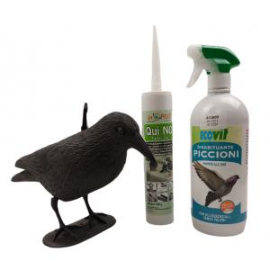 Гълъби на терасата - Еко прогонване в 3 стъпки - Плашило Гарван GARDIGO - ЕКО спрей прогонващ гълъби; Препарат - гел;  на най-добра цена